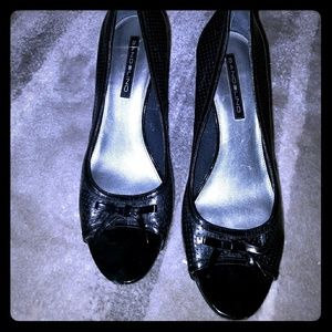Shoes - Black Heels open toe